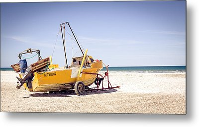 Metal Print featuring the photograph Boat And The Beach by Silvia Bruno