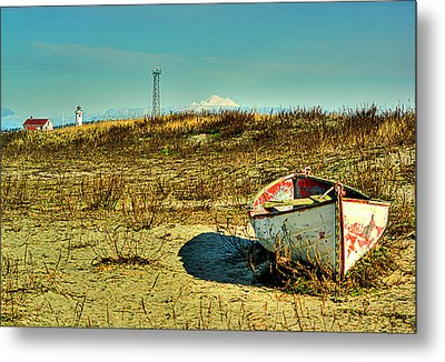 Boat At Point Wilson Metal Print by Dale Stillman