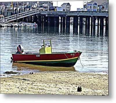 Boat At The Beach Provincetown Metal Print
