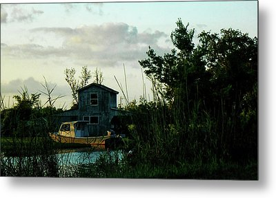 Metal Print featuring the photograph Boat House by Cynthia Powell