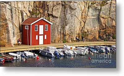 Boat House Metal Print