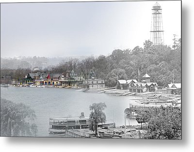 Boat House Row Paddle Boats Metal Print