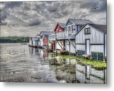 Boat Houses In The Finger Lakes Metal Print