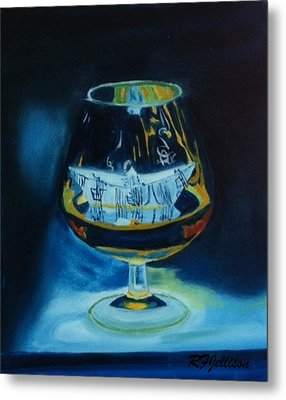 Metal Print featuring the painting Boat In A Glass by Rod Jellison