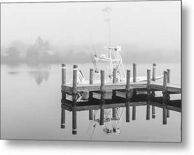 Metal Print featuring the photograph Boat In The Sounds Alabama  by John McGraw