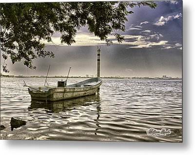 Boat In The Water Metal Print by William Havle