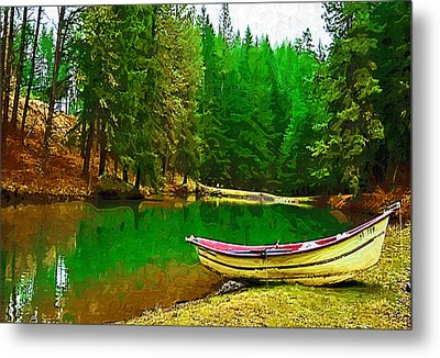 Boat Of The Lake Metal Print by Dale Stillman