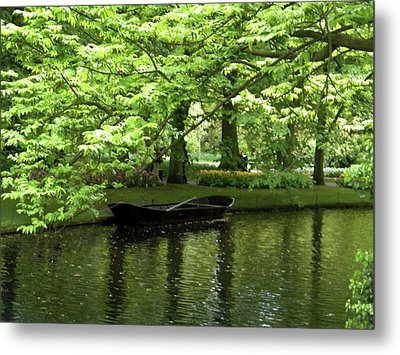 Metal Print featuring the photograph Boat On A Lake by Manuela Constantin