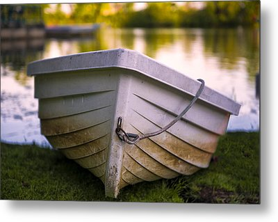 Boat On Land Metal Print