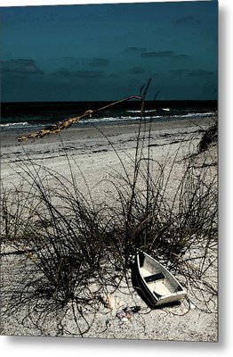 Boat On The Beach Metal Print