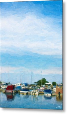 Boat Scene 1 Metal Print by Chamira Young
