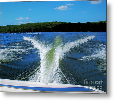 Boat Wake Metal Print by Patti Whitten
