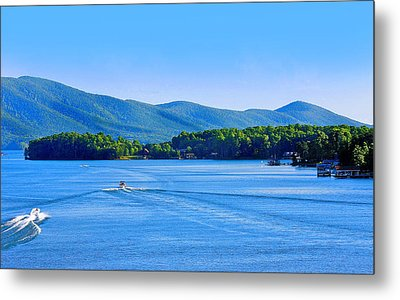 Boaters On Smith Mountain Lake Metal Print by The American Shutterbug Society