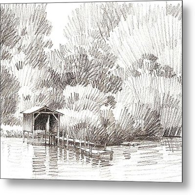 Boathouse Metal Print by Kevin Lawrence Leveque