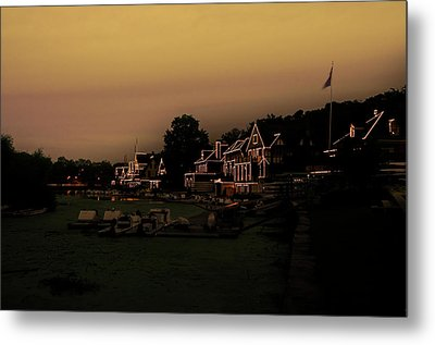 Metal Print featuring the photograph Boathouse Row From The Lagoon Before Dawn by Bill Cannon