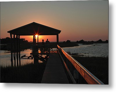 Boathouse Sunset Metal Print by Stacey Lynn Payne