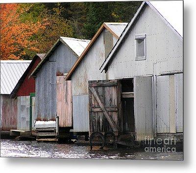 Boathouses Metal Print by Li Newton