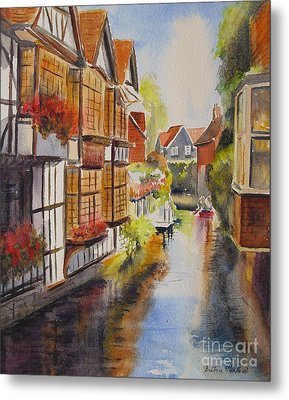 Metal Print featuring the painting Boating In Canterbury by Beatrice Cloake