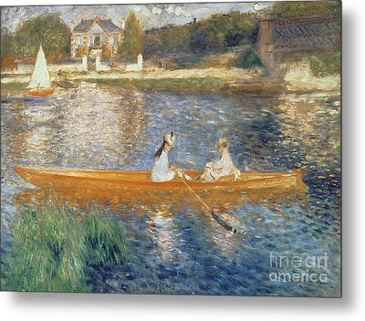 Boating On The Seine Metal Print