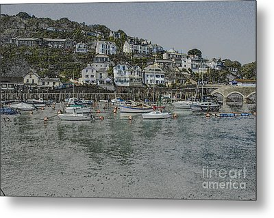 Metal Print featuring the photograph Boats At Looe by Brian Roscorla