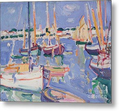 Boats At Royan Metal Print by Samuel John Peploe