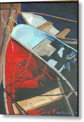Boats At The Dock Metal Print by Jim Peirce