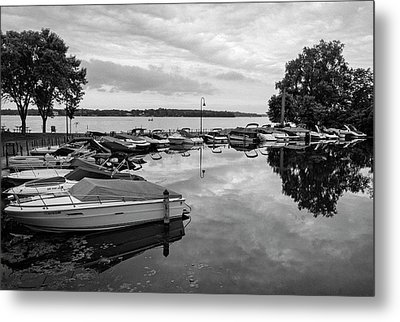 Boats At Wayzata Metal Print
