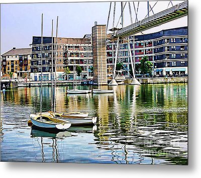 Metal Print featuring the photograph Boats Becalmed Rvd by Jack Torcello