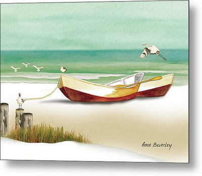 Boats For Rent Metal Print by Anne Beverley-Stamps