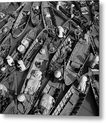 Boats, Hoi An, Vietnam Metal Print