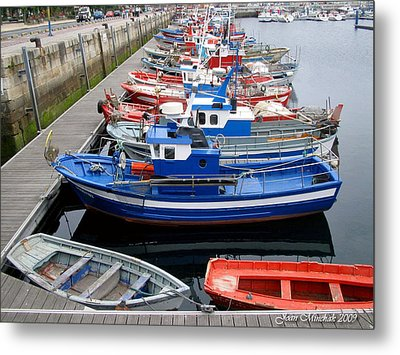 Metal Print featuring the photograph Boats In Norway by Joan  Minchak