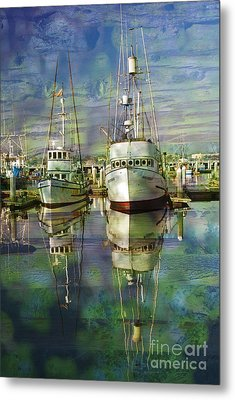 Boats In The Harbor Metal Print by Ronald Hoggard