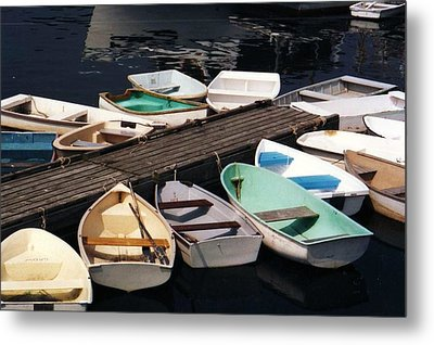 Boats In Waiting Metal Print by John Scates