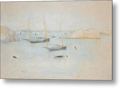 Boats Metal Print by Julian Alden Weir