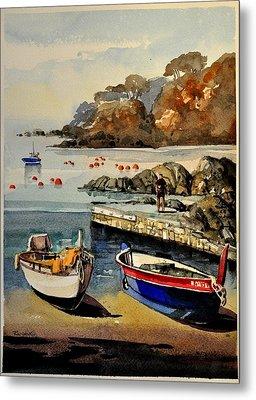 Boats Of Calella Spain Metal Print