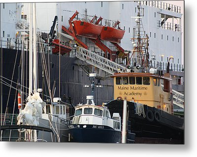 Boats Of Maine Maritime Academy Metal Print by Greg DeBeck