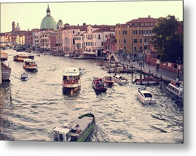 Metal Print featuring the photograph Boats Of Venice by Brad Scott