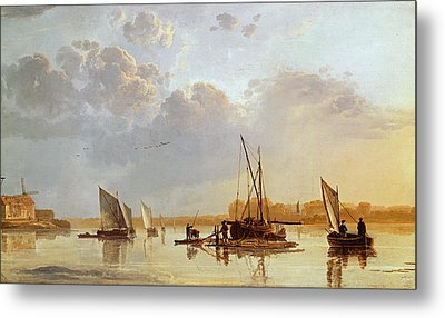 Boats On A River Metal Print by Aelbert Cuyp