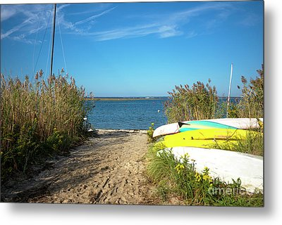 Metal Print featuring the photograph Boats On Long Beach Island by John Rizzuto