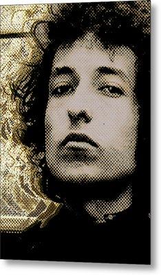 Bob Dylan 2 Vertical Metal Print by Tony Rubino
