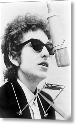 Bob Dylan B. 1941 With Harmonica Metal Print by Everett