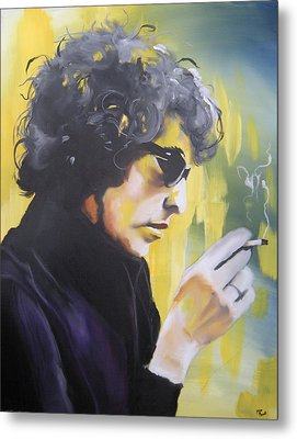 Bob Dylan Metal Print by Matt Burke