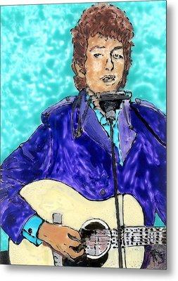 Bob Dylan Number 3 Metal Print by Phil Strang