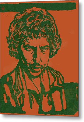 Bob Dylan Pop Stylised Art Sketch Poster Metal Print by Kim Wang