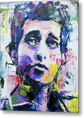 Metal Print featuring the painting Bob Dylan Portrait by Richard Day