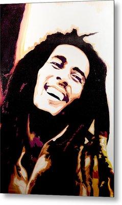 Bob Marley - Orange Metal Print by Jocelyn Passeron