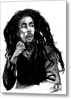 Bob Marley Metal Print by Keith  Thurman