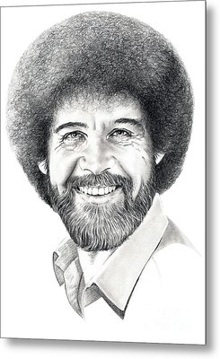 Bob Ross Metal Print by Murphy Elliott