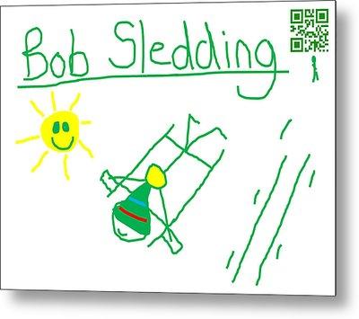 Bob Sledding Metal Print by Jeffrey Church