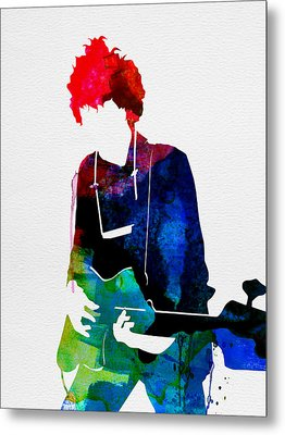 Bob Watercolor Metal Print by Naxart Studio